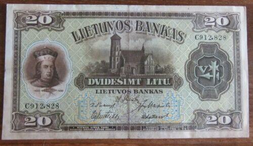 20 Litu 1930   Lithuania