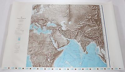 The World Russia Europe 1961 Vintage Original US Navy Hydrographic Map