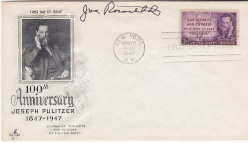 JOE ROSENTHAL (1911-2006) hand signed 1947 FDC  autographed 100th Anniv Pulitzer