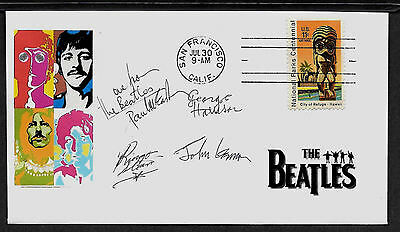 1960s The Beatles Featured on Limited Edition Collector's Envelope *A184