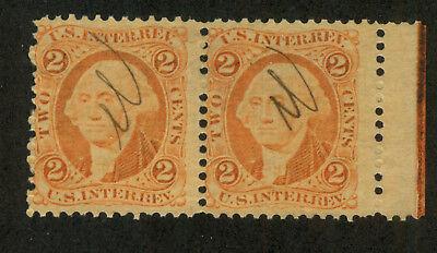 U.S. - R15c - Sheet Margin pair - Used 15 Sheet Duo