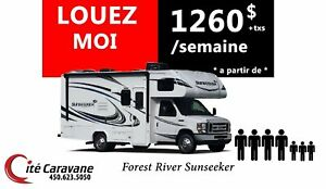2018 Forest River LOCATION CLASSE C 24-31 PIEDS ! SUNSEEKER LOUE