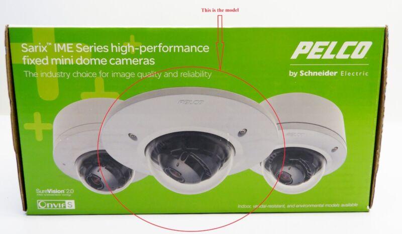 NEW Pelco IMS119-1EI Sarix 2MP Outdoor Day Night Network Mini Dome Camera, 3-9mm