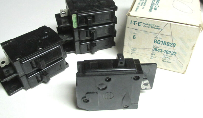 * ITE/Siemens 1P,20A  Circuit Breakers  Cat# BQ1B020 ...(Box of 6)  ..   YH-700