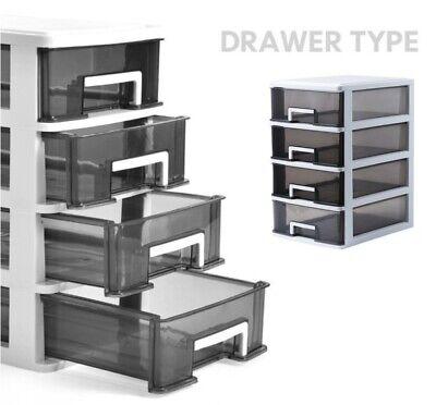 3-5 Multi-layers Plastic Storage Cabinet Drawer Closet Rack Storage Organizer US
