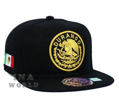 MEXICAN hat MEXICO Federal State Logo Snapback Flat bill Baseball cap- DURANGO
