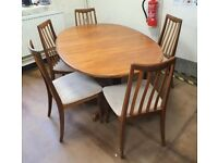 FREE DELIVERY A Set of 5 Vintage Mid Century 1960s Teak G Plan Dining Chairs