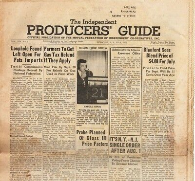 The Independent Producers' Guide, July 1957 vintage agricultural newspaper