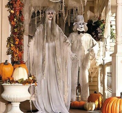 Halloween Props Decorations Zombies Life Size Animated Scary Couple Outdoor Yard](Scary Outdoor Halloween Props)