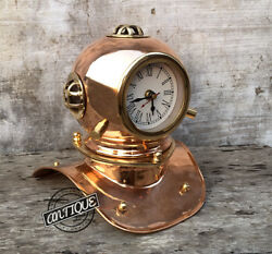 Valentine Vintage Style Clocks Unique Table Top Analog Marine Scuba Helmet Mo