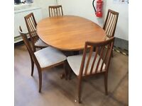 FREE DELIVERY Vintage Mid Century 1960s Teak G Plan Extending Dining Table And 5 G Plan Chairs