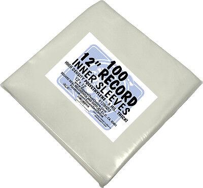"(100) 12IH03 PREMIUM 12"" Vinyl LP Record Inner Sleeves Covers BEST PROTECTION"