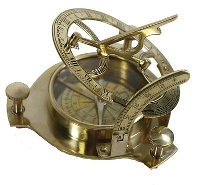 - Brass Sundial Compass Nautical Maritime Antique Vintage Style London Decor Gift