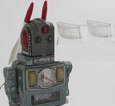 ORIGINAL ALPS ROSKO ROCKETMAN FRONT PLASTIC DOMED COVERS. ROBOT NOT INCLUDED