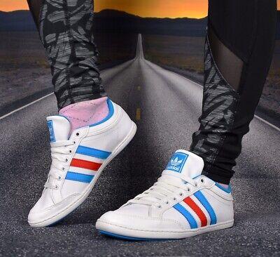 Adidas PLIMCANA LOW Leder Schuhe Sneaker Damen Superstar zx adv weiß/blau/rot Damen Weiß Leder