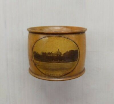 Treen Mauchline Ware Napkin Holder Ring 4. Walmer Castle