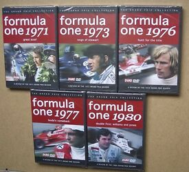 Formula One DVD reviews for 1971, 1973, 1976, 1977, 1980 F1 new sealed