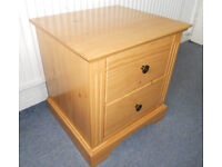 Solid Pine Bedside Table, Chest of Drawers