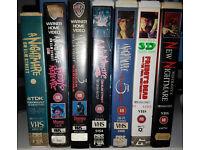 Nightmare on Elm Street 1-6 ex rental VHS big box