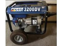 Generator - Powercraft 3200 DV - used once.