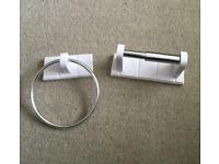 Towel Ring and Toilet Roll Holder