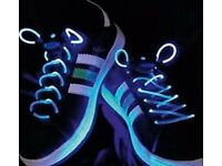 New in packaging Flashing shoe laces great Christmas stocking fillers