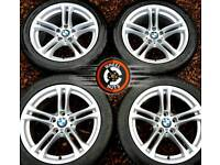 """Stunning 18"""" Genuine BMW M Sport 5 series alloys perfect cond, match tyres."""