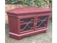 Glass Front Wooden Display Cabinet / TV Table