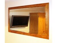 Large high quality bevelled carved-wood frame wall mirrors (85 x 59cm)