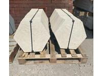 Concrete Hexagon Paving Flags / Slabs / Stepping stones ~ New