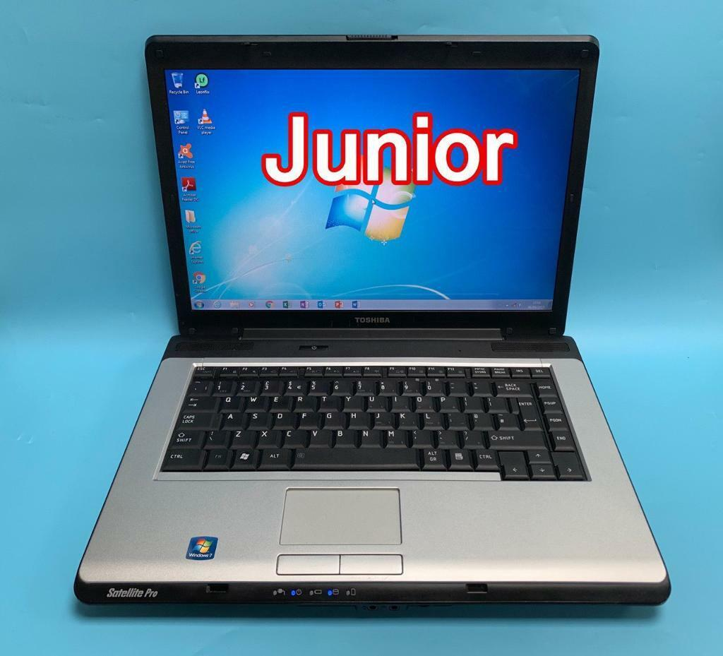 laptop with windows 7 and microsoft office