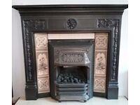 Cast iron ornamental fire surround