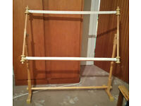 Wooden Floor Standing Sewing Frame for Tapestry / Cross Stitch