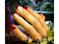 Gel polish and gel sculptured nails