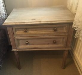 Two beautiful bedside tables for sale.