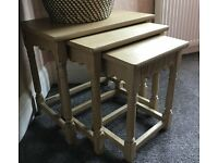 Nest of tables, retro, shabby chic Annie Sloan