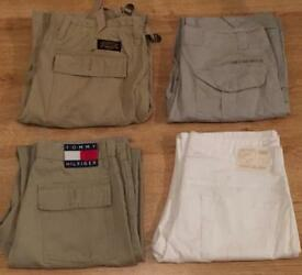 4 pairs of brand new men's designer trousers. Calvin Klein, Tommy Hilfiger, Ralph Lauren, DKNY