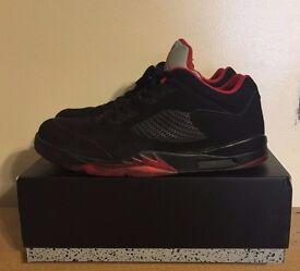 Nike Air Jordan 5 Retro Low Black/Gym Red Size Uk 14 Eur 49.5 Used