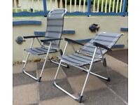 Pair of Folding Chairs/Sun Loungers