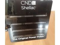 Cnd shellac black acrylic rare nail wall rack holds 52 bottles of power polish Beauty salon shop