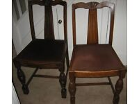 OAK CHAIRS COLLECTIBLE