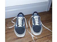 Vans Old Skool Trainers Converse Blue Navy White 8