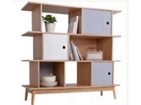 Argos wooden shelving bookcase