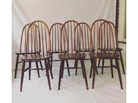 Vintage Ercol Dining Chairs