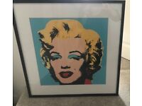 Picture Marilyn Monroe framed Andy Warhol print
