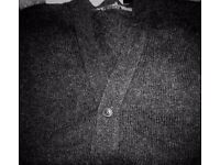 LOVELY MEN'S BLACK CARDIGAN (GEORGE SIZE XXL)