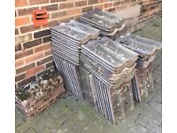 Roof tiles & ridge tiles. Approx 90 roof tiles and 6 ridge tiles.