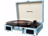 Crosley Cruiser Record Player - used 3 times - BLUE