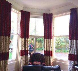 4 x 13ft bespoke heavy lined curtains