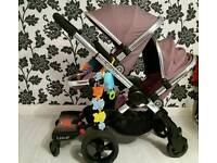 Icandy Peach 3 Marshmallow Excellent Condition With buggy board
